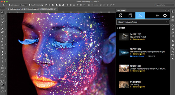 Getty Images Adobe Plugin